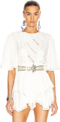 Isabel Marant Lapao Top in White | FWRD