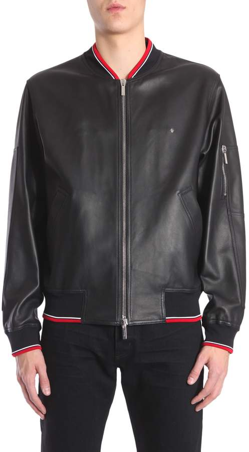 Christian Dior Leather Bomber Jacket
