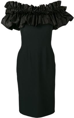 Alexander McQueen Ruffled Top Fitted Dress