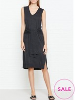 Whistles Tie Front Sleeveless Knit Dress
