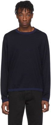 Maison Margiela Navy Rib Sweater