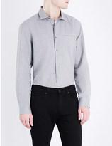 John Varvatos Slim-fit cotton and linen-blend shirt