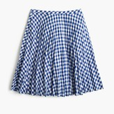 J.Crew Gingham pleated mini skirt