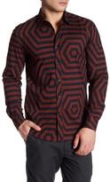 Antony Morato Geo Print Long Sleeve Slim Fit Shirt