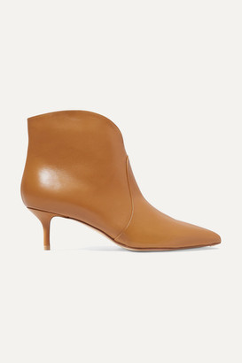 Francesco Russo Leather Ankle Boots - Camel
