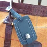 Plum & Ivory Luxury Leather Luggage Tag
