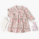 Emile et Rose Baby 3 Piece Flower & Bird Dress Set, Pink