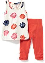Old Navy 2-Piece Tunic and Leggings Set for Toddler Girls