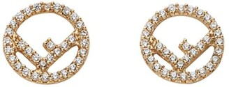 Fendi Embellished Logo Earrings