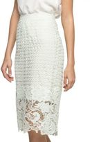 Andrew Marc Jennifer Armor Lace Pencil Skirt