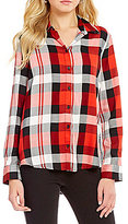 Westbound Long Sleeve Twin Print Button Front Shirt
