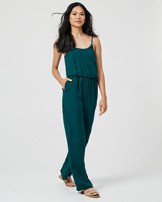 Le Château Linen-Like Wide Leg Jumpsuit