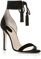 Elie Saab Suede Heeled Sandals