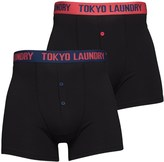 Tokyo Laundry Mens Farnfield Two Pack Boxers Estate Blue/Paradise Pink