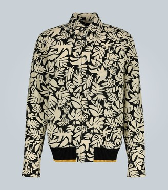 Marni Eyed leaves printed cotton shirt