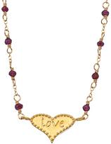 Sophia & Chloe Garnet and Gold Love Heart Necklace