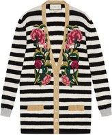 Gucci Embroidered oversized cardigan