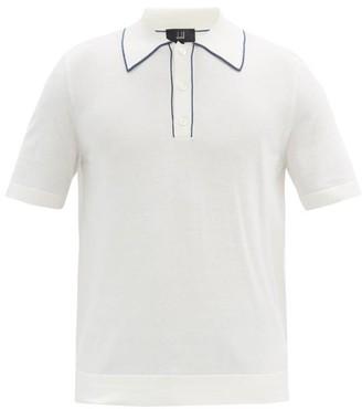 Dunhill Striped-collar Pima-cotton Jersey Polo Shirt - White