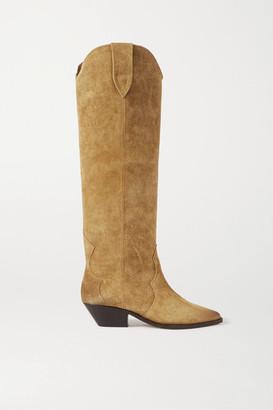 Isabel Marant Denvee Suede Knee Boots - Beige