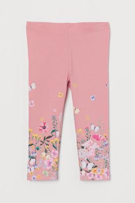H&M 3/4-length Leggings - Pink
