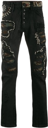 Philipp Plein Milano studded slim-fit jeans