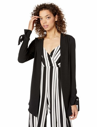 BCBGeneration Women's Tuxedo Knit Long Blazer Jacket