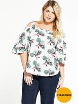 Alice & You Cold Shoulder Printed Blouse
