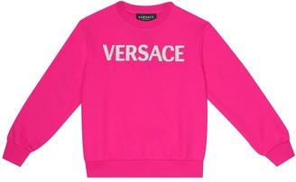 Versace Kids Logo cotton-jersey sweatshirt