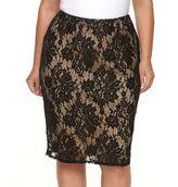 Apt. 9 Plus Size Lace Midi Pencil Skirt