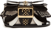 Burberry Buckle small snakeskin, ostrisch and leather bag