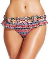 Jessica Simpson Jessica Sipsonixed-Print Ruffle Bikini Hipsulti