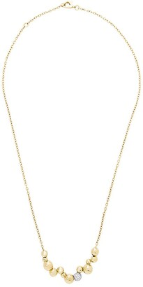 MARINA B 18kt yellow gold mini Atomo pave diamond chain necklace