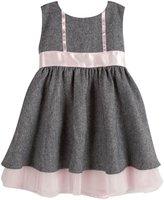 Andy & Evan Herringbone Dress (Toddler/Kid) - Black-5