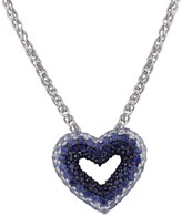 Effy Jewelry Effy 925 Splash Sterling Silver Blue Sapphire Heart Pendant, 1.35 TCW