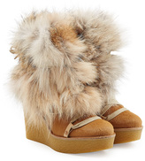Chloé Wedge Boots with Fur
