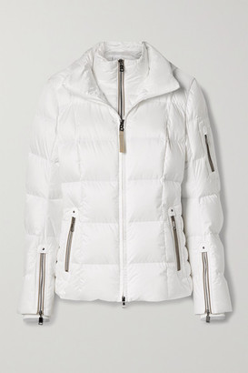 Bogner Coro-d Hooded Layered Quilted Down Ski Jacket - White
