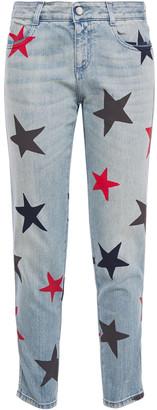 Stella McCartney Cropped Printed Mid-rise Slim-leg Jeans