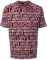 Love Moschino allover logo print T-shirt