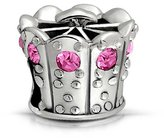 Bling Jewelry Sterling Princess Crown Simulated Topaz CZ Bead Fits Pandora