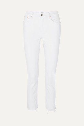 GRLFRND Reed Cropped Mid-rise Slim-leg Jeans - White