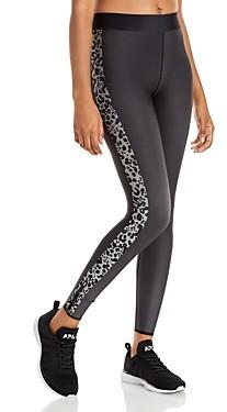 COR designed by Ultracor Leopard Print Stripe Leggings