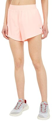 Puma 3 Run Favorite Woven Shorts (Elektro Peach) Women's Shorts