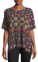 Johnny Was Sibyll Georgette Embroidered Tunic