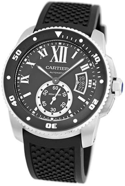 Cartier Calibre De Diver Stainless Steel Strap Mens Watch