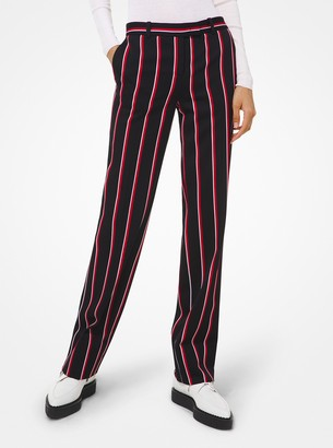 Michael Kors Collection Striped Wool Trousers