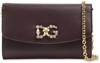 Dolce & Gabbana Dauphine Embellished Leather Bag