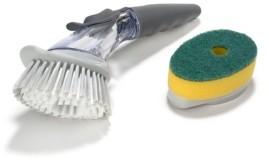 Polder Soap Dispensing Sink Brush with Bonus Sponge