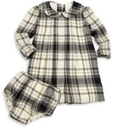 Ralph Lauren Baby's Two-Piece Collared Plaid Dress & Bloomers Set