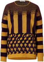 Jil Sander Cashmere-Mohair Pullover in Mustard