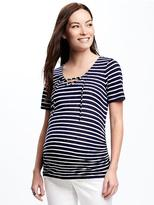 Old Navy Maternity Fitted Tie-Neck Top
